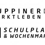 Anwendungsbeispiel für das neue Corporate Design zur Vermarktung des Wochenmarktes (Stempel auf weißen Einkaufstüten)