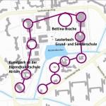 Märkisches Viertel Plan mit Perlenschnur